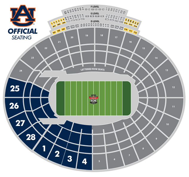 View Auburn Sections Seating Chart