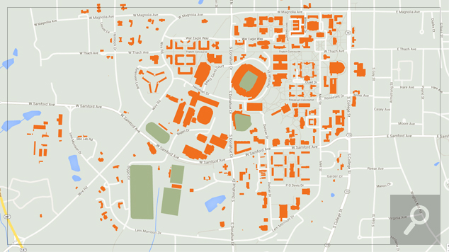 Athens Campus Map.Maps Directions Auburn University Athletics