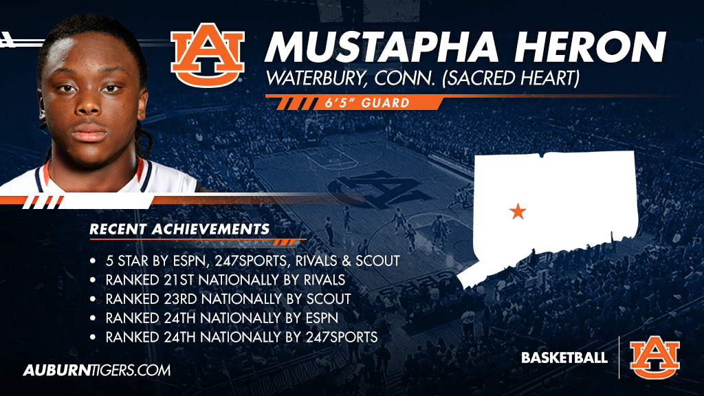 Five Star Mustapha Heron Signs With Auburn Basketball