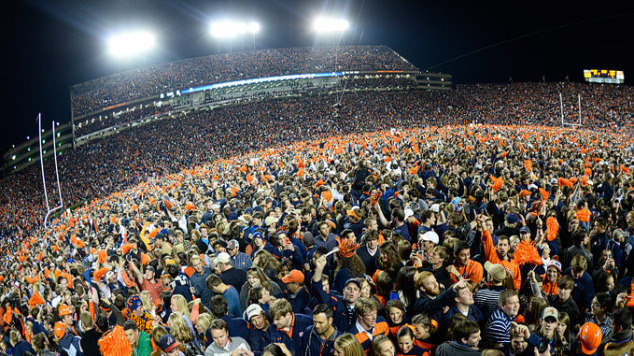 9e596735ee9d9e Iron Bowl Auburn fans celebrated after a last-second victory over Alabama  in 2013