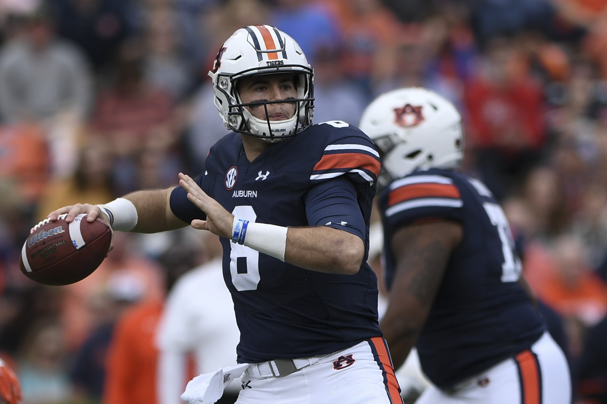 b3ba25f24a1 Through 12 games, Auburn quarterback Jarrett Stidham leads the SEC in  completion percentage (68.5