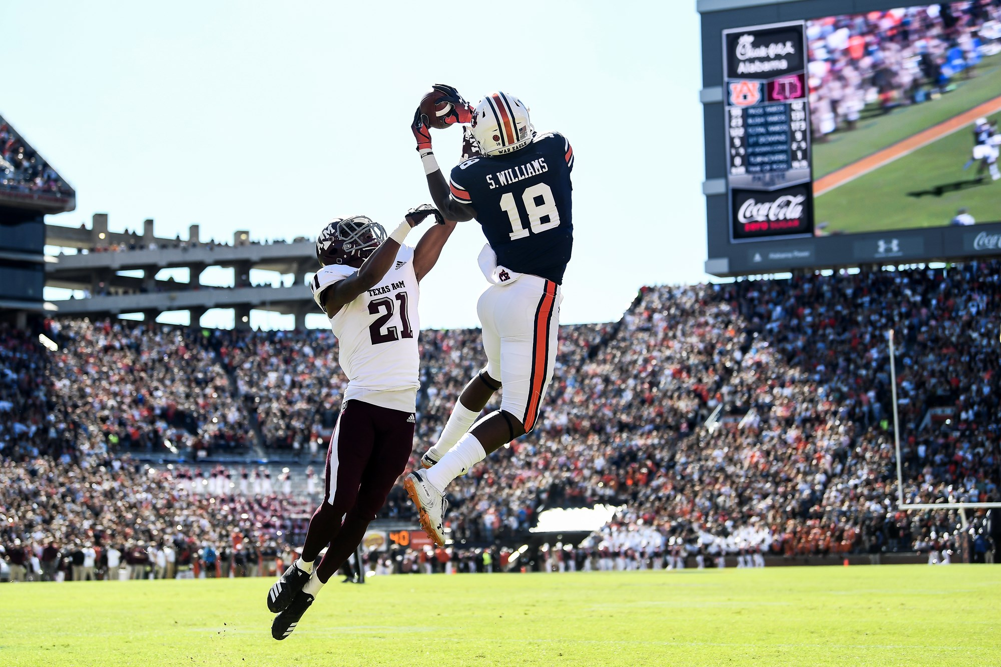 A Special Win Auburn Defeats Texas A M On Late Comeback