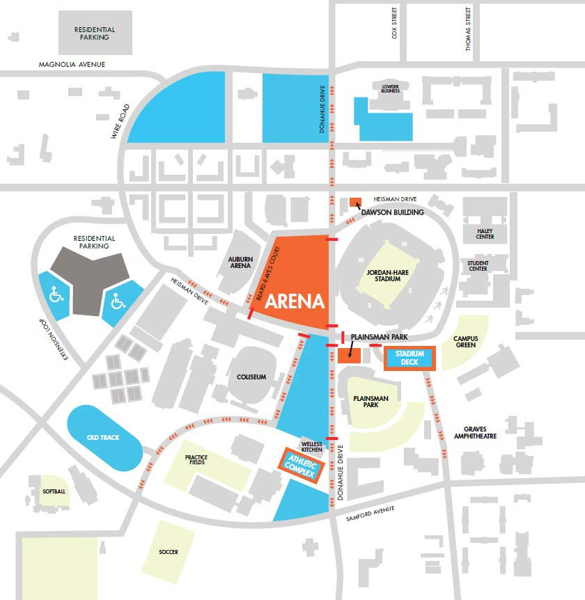 Under Armour Campus Map.Basketball Gameday Auburn University Athletics